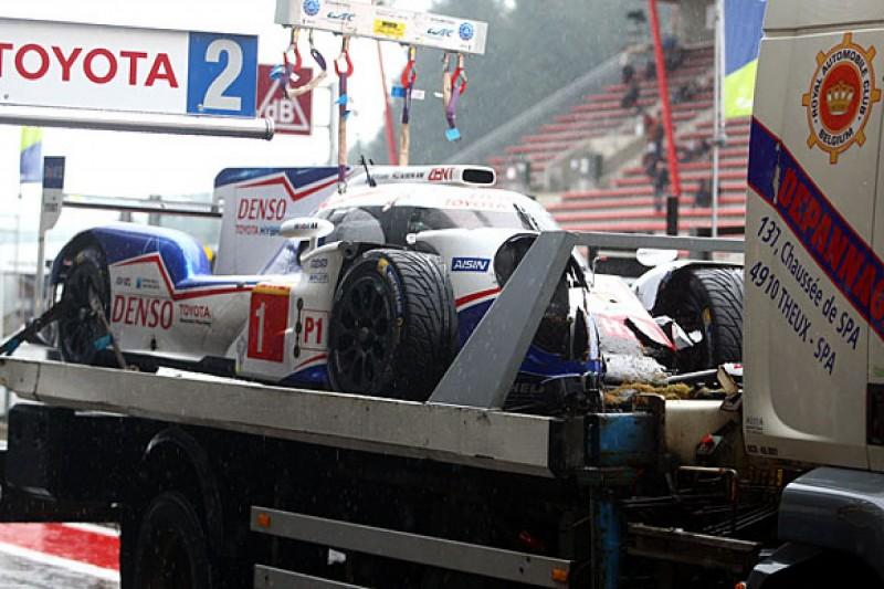Toyota driver Kazuki Nakajima breaks vertebra in Spa WEC crash