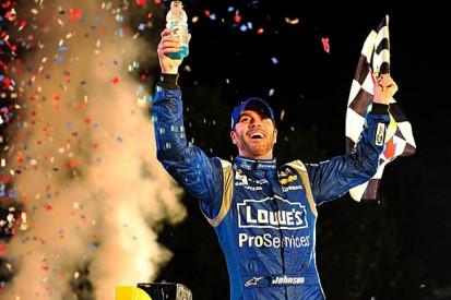 Texas NASCAR: Johnson defeats Harvick and Earnhardt for win
