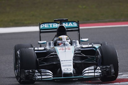 F1 Chinese GP: Lewis Hamilton leads Mercedes one-two in practice