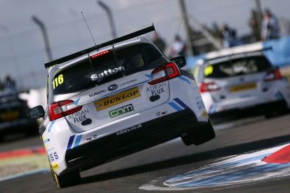 BMR Subaru's Sutton loses Donington Park BTCC pole, Austin promoted