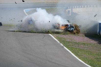 FR3.5 testing: Dean Stoneman walks away from huge crash at Jerez