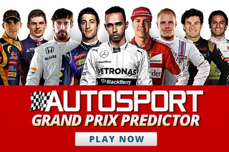 AUTOSPORT Grand Prix Predictor 2015 game launches
