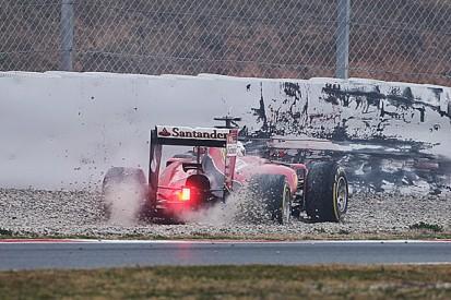 Barcelona F1 test: Sebastian Vettel takes blame for first-lap spin