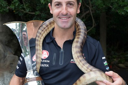 Jamie Whincup bitten by snake while announcing V8 Supercars deal
