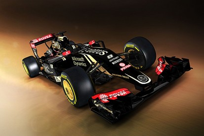 Lotus team reveals first image of new Mercedes-powered F1 car