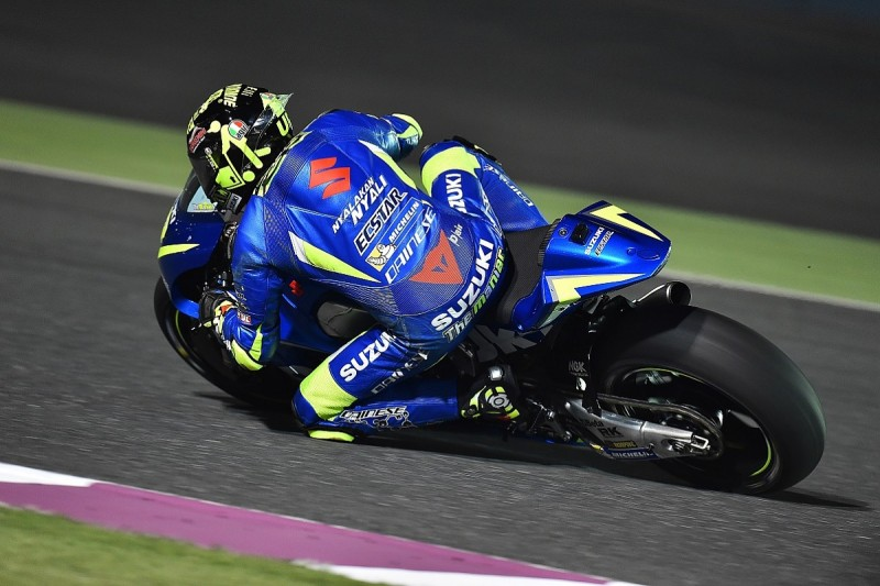 Suzuki MotoGP rider Andrea Iannone trying to copy Vinales' style