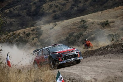 Rally Mexico: Citroen driver Meeke closes in on win as Ogier spins