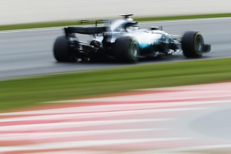F1 testing: Bottas fastest on Wednesday as Raikkonen crashes