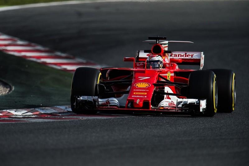 F1 testing: Ferrari's Raikkonen fastest after final day's wet start