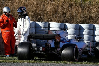 Hamilton feels for F1 rookie Stroll after Barcelona testing crash