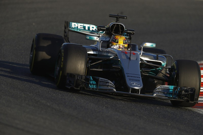 F1 testing 2017: Hamilton tops first day for Mercedes