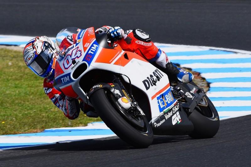 Andrea Dovizioso says Ducati's 2017 MotoGP gains 'not enough'