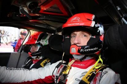 Citroen WRC driver Meeke crashes in pre-Rally Sweden test