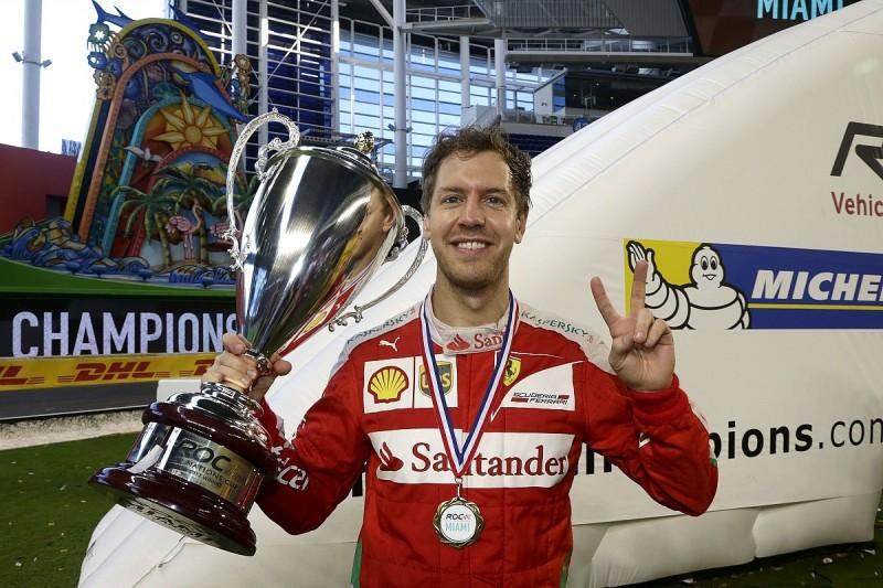 Sebastian Vettel wins Race of Champions Nations Cup single-handed