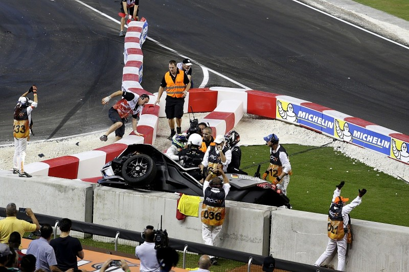 Sauber F1's Wehrlein withdraws from Race of Champions after crash