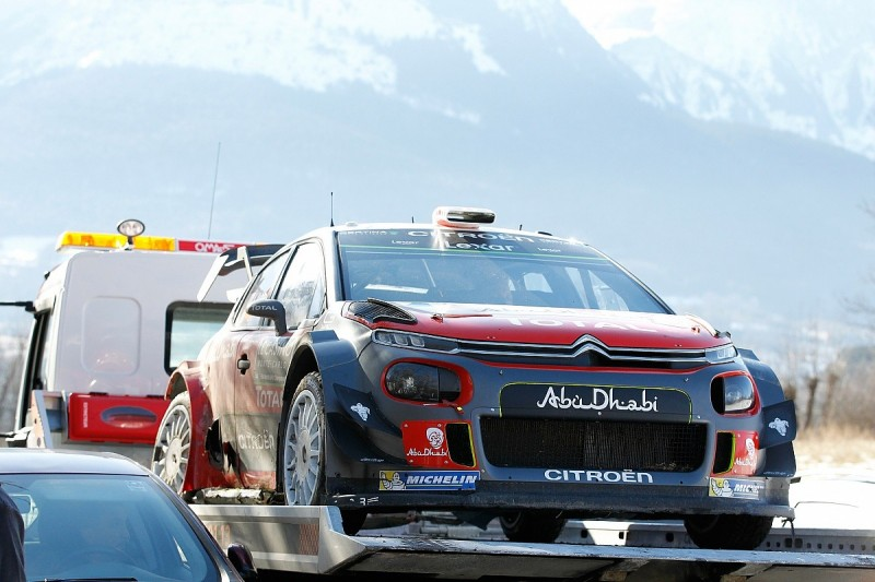 WRC: Kris Meeke accepts blame for crash on Monte Carlo Rally