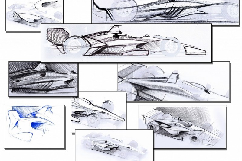 IndyCar unveils concepts for new 2018 aero package