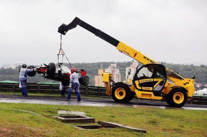 Romain Grosjean crashes out on way to Brazilian Grand Prix grid