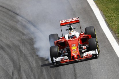 "Vettel: Ferrari ""pushing at the maximum"" despite large Mercedes gap"