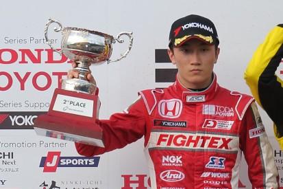 Honda junior Tadasuke Makino testing with Prema Powerteam