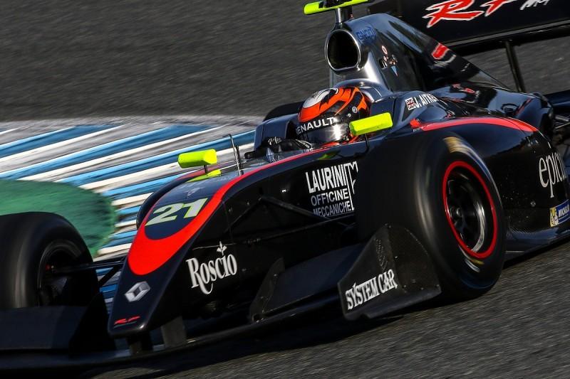Jerez FV8 3.5: Renault junior Jack Aitken grabs pole on debut