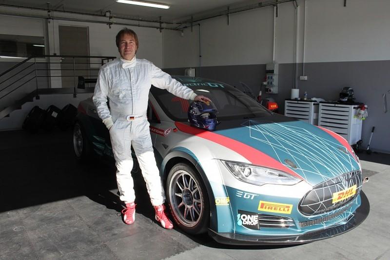 Ex-F1 racer Heinz-Harald Frentzen tests Electric GT Tesla