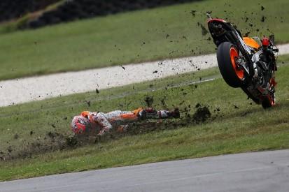 Marquez crashed in Australia taking risks with MotoGP title secure