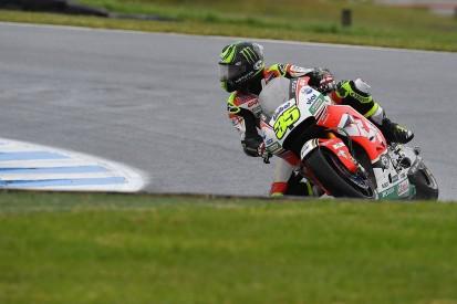 Australian MotoGP: LCR Honda's Crutchlow leads Rossi in wet FP1
