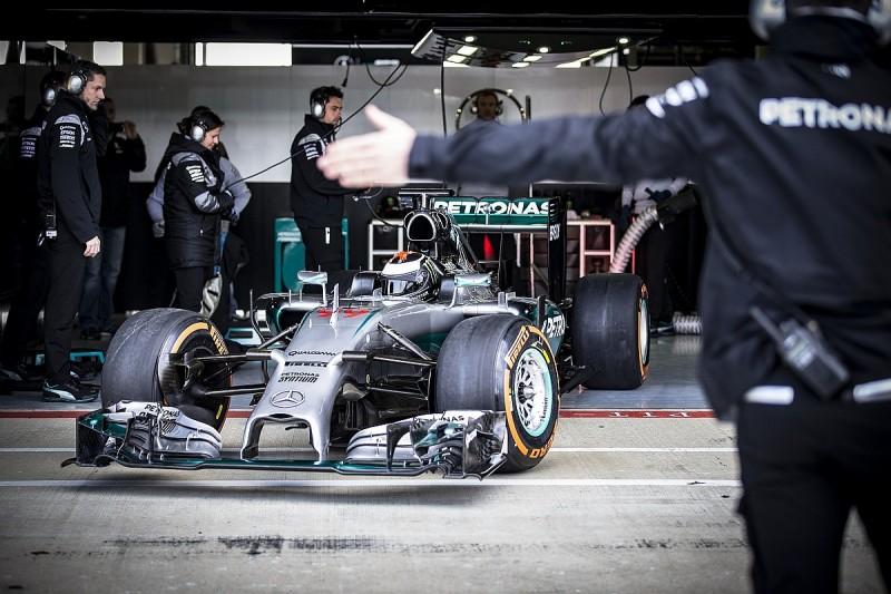 MotoGP champion Jorge Lorenzo tests Mercedes Formula 1 car