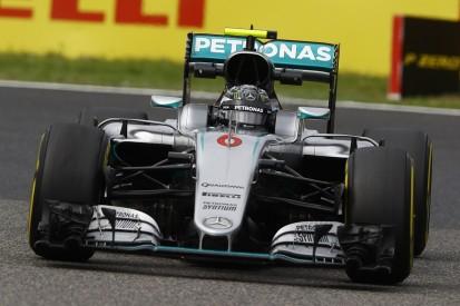 Japanese Grand Prix: Nico Rosberg stays on top in practice two