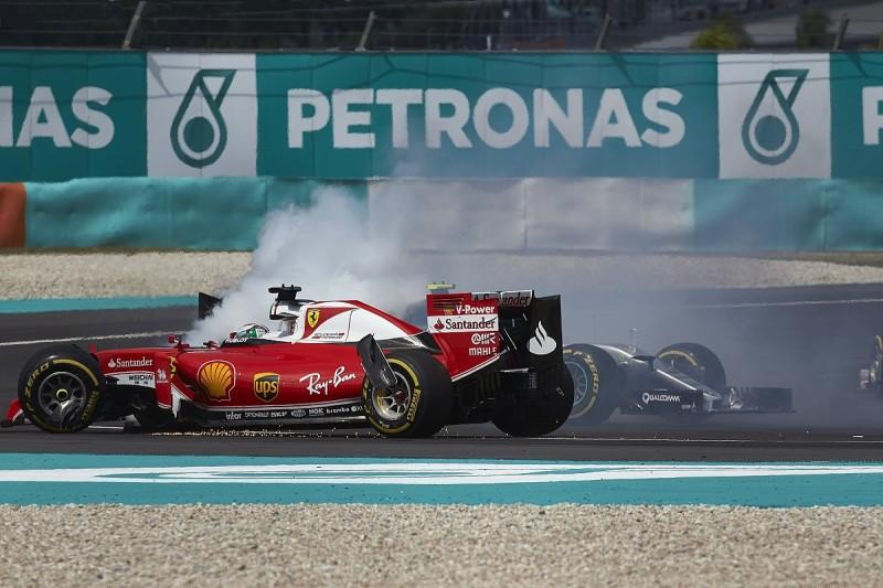 Ferrari F1 driver Vettel defends first-corner Malaysian GP move