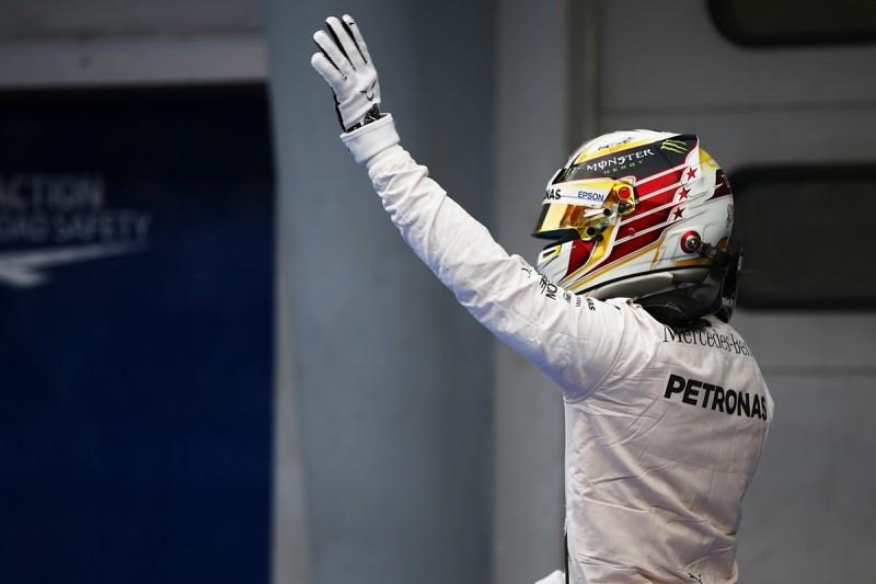 Lewis Hamilton on F1 pole position for Malaysian Grand Prix