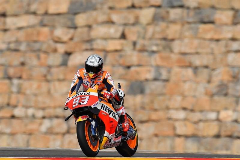 MotoGP Aragon: Marc Marquez leads Valentino Rossi in first practice