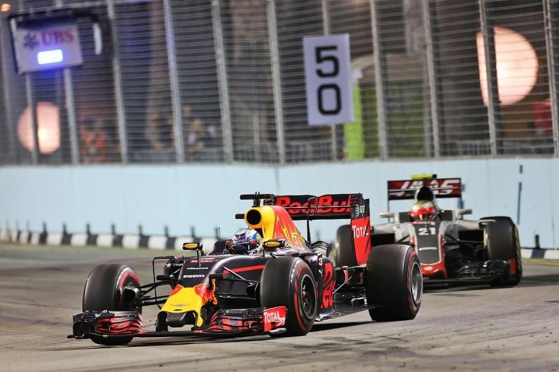 Daniel Ricciardo's tyres 'ran out of steam' in Singapore GP chase