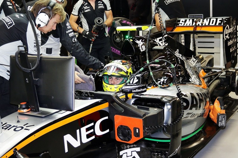 Eight-place Singapore GP grid penalty for furious Sergio Perez