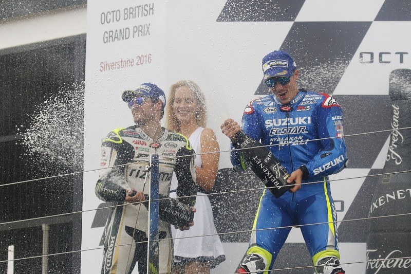 Maverick Vinales wins MotoGP British GP for Suzuki, Cal Crutchlow second