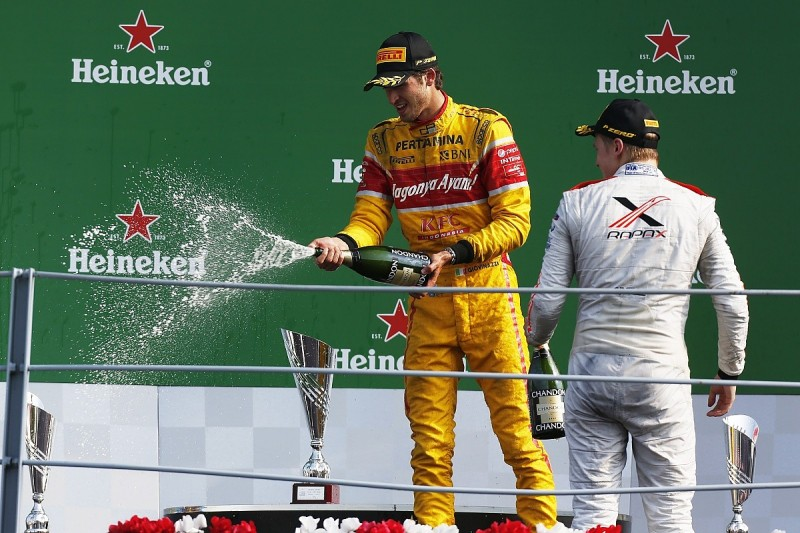 GP2 Monza: Giovinazzi storms from back to win with last-lap pass
