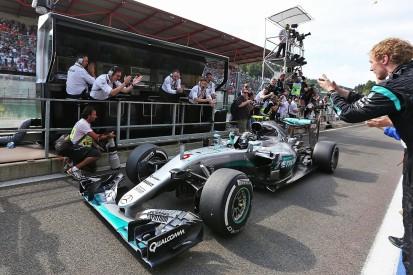Nico Rosberg wins Belgian GP as Lewis Hamilton charges to third