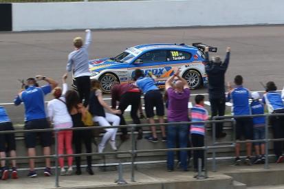Rockingham BTCC: Sam Tordoff wins from 10th after leaders collide