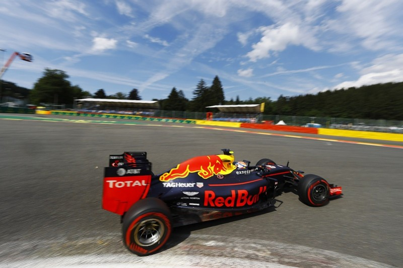 Belgian GP: Max Verstappen leads Red Bull one-two in practice