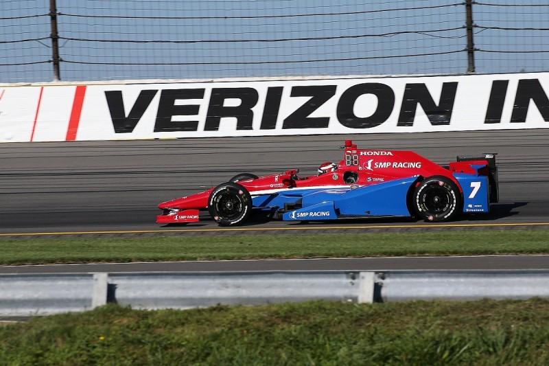 Pocono IndyCar: Mikhail Aleshin fastest in crash-filled practice