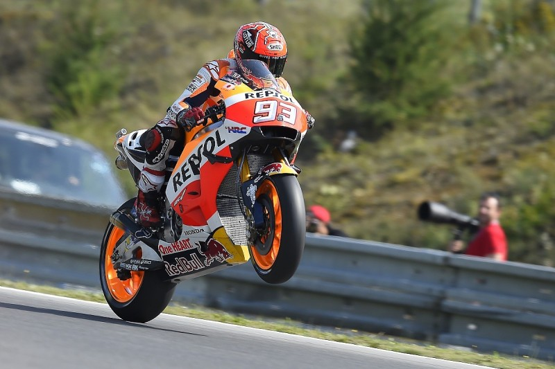 Marc Marquez says Valentino Rossi tow helped his Brno MotoGP pole