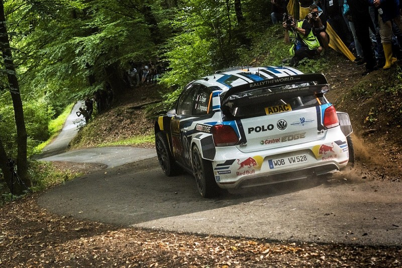 WRC Rally Germany: Ogier takes lead before crash stops stage