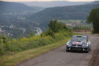 Rally Germany: Andreas Mikkelsen leads as VW team-mates hit trouble