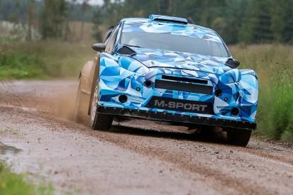 M-Sport World Rally Championship team begins testing 2017 mule car