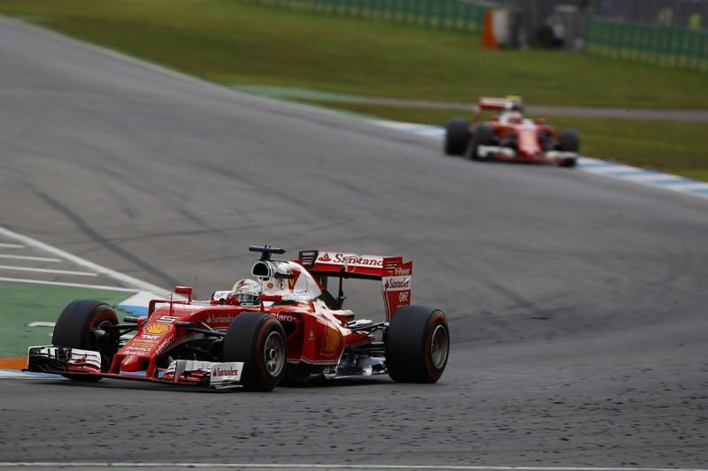 German GP: Questioning Ferrari's strategy a mistake, Vettel admits