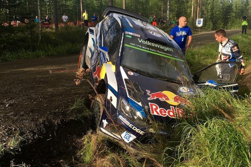Rally Finland: Sebastien Ogier crashes on opening day