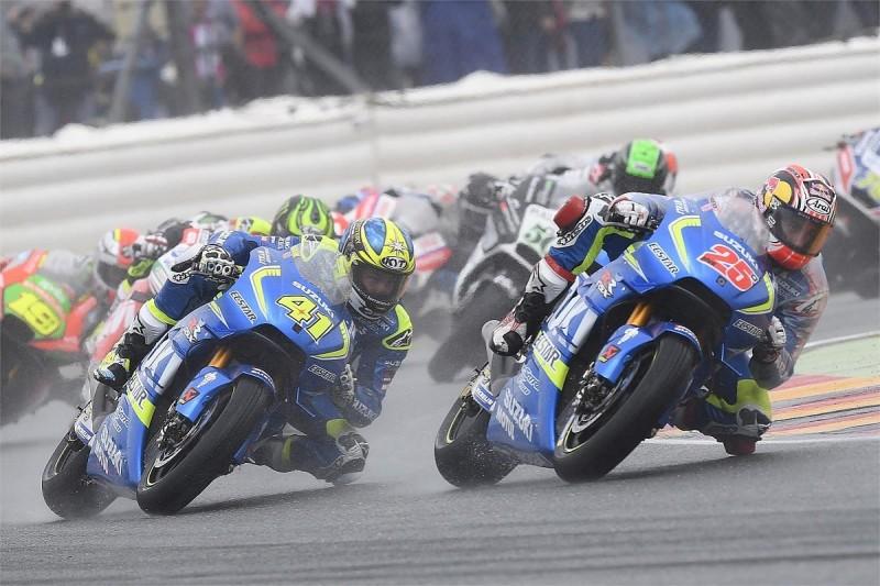 Suzuki MotoGP bike 'impossible' to ride in wet conditions