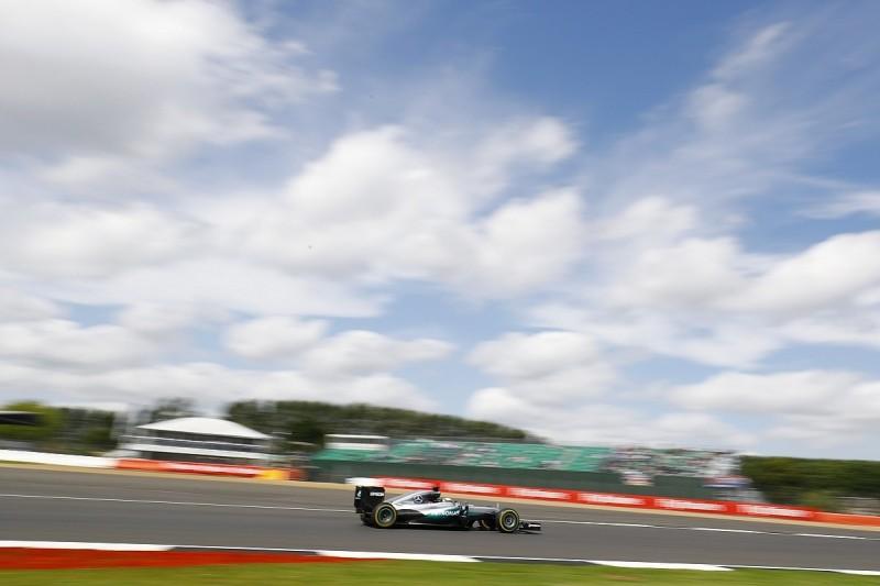 British GP: Hamilton fastest as Rosberg's Mercedes sidelined