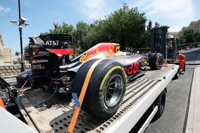 Daniel Ricciardo apologises to Red Bull for Baku F1 practice crash